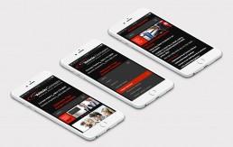 Collision repair responsive website design