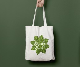 wellness brand identity design tote bag